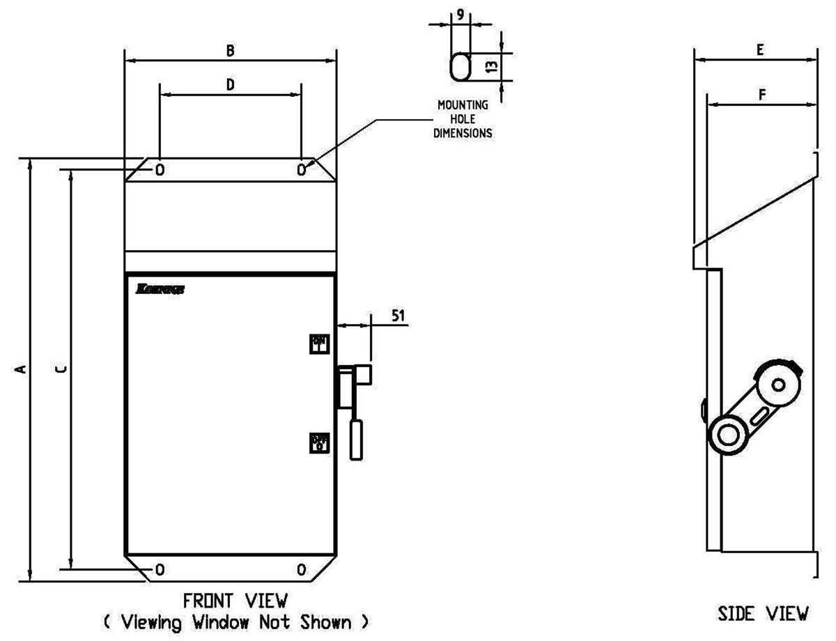 koenigs sr slope roof series enclosure dimensions